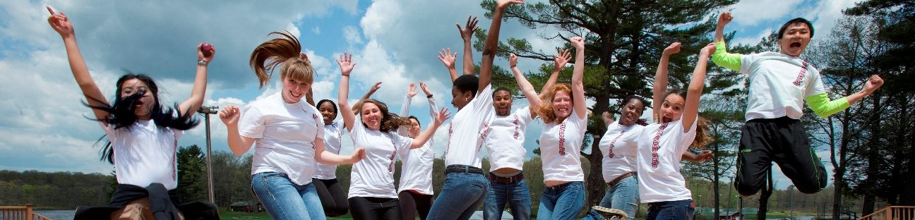 students participate in leadership retreat